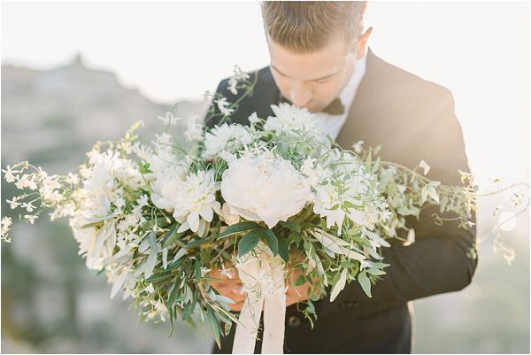 white bridal bouquet fine art wedding Images by Jeremie Hkb