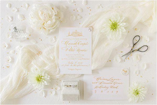 white luxury wedding stationery | Images by Jeremie Hkb