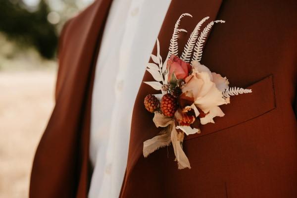 boho grooms buttonhole