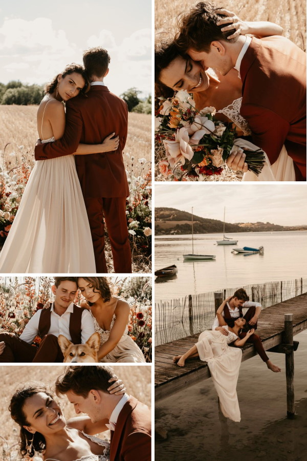 French Alps Bohemian Wedding Collage (1)