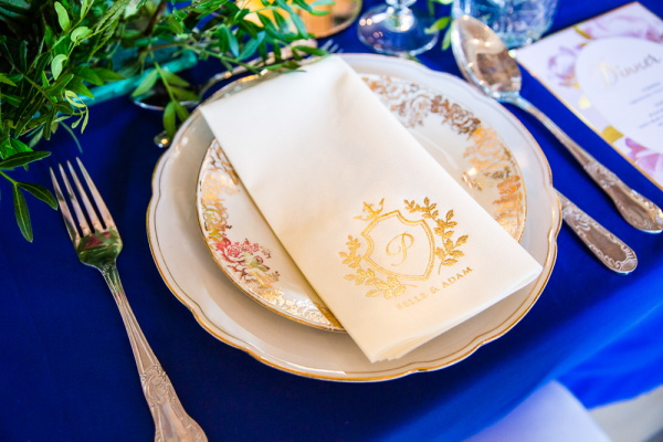 Wedding Dishes and Napkins