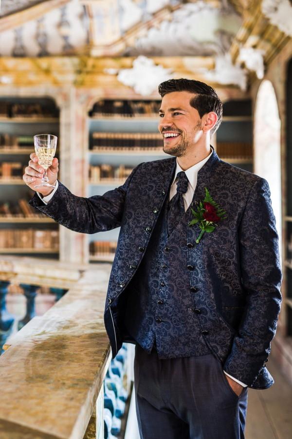 Groom in Baroque suit