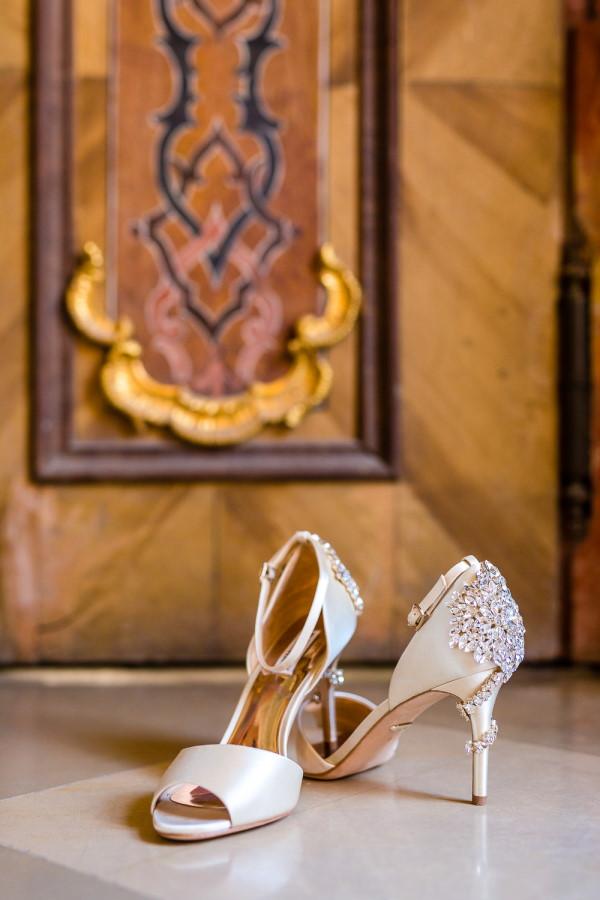 Crystal Encrusted Bridal Shoe