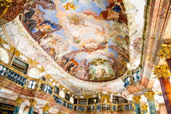 Baroque Library Painted Ceiling