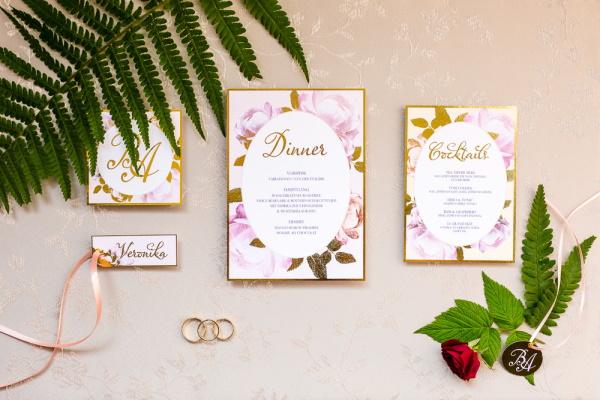 Wedding Menu Flatlay