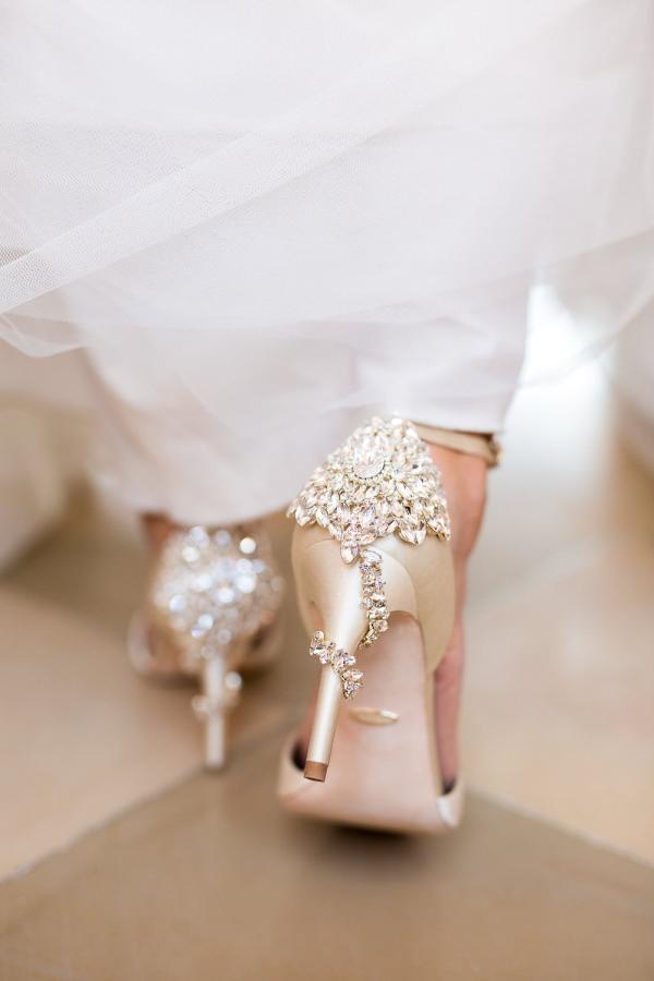 Closeup of Bridal Shoes