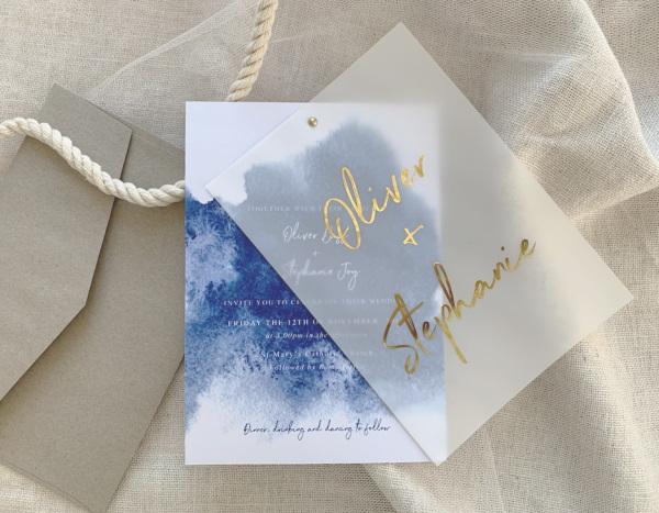Vellum Overlay Wedding Invitations