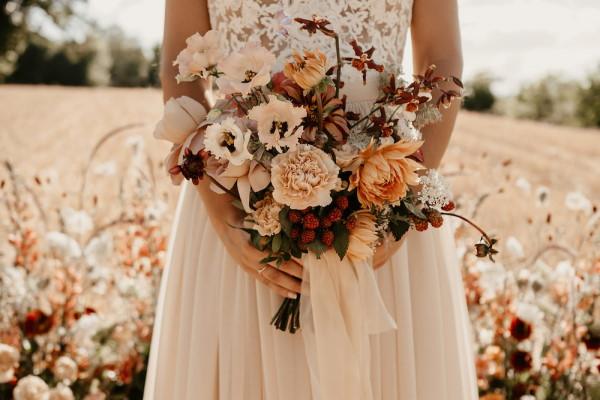boho bridal bouquet flowers