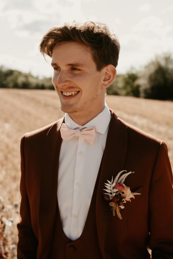 boho grooms suit