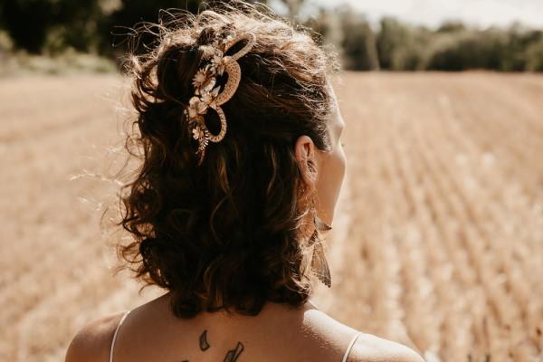 boho wedding hair accessory