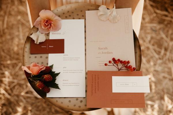 boho wedding stationery