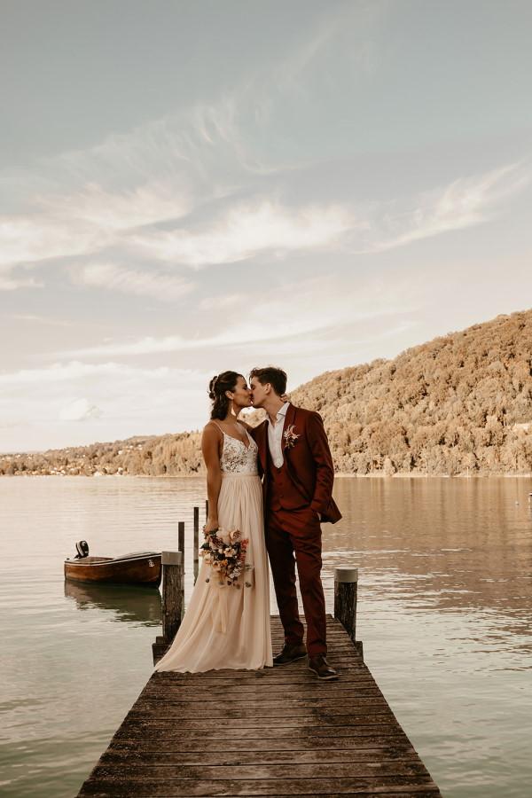 french alps summer wedding
