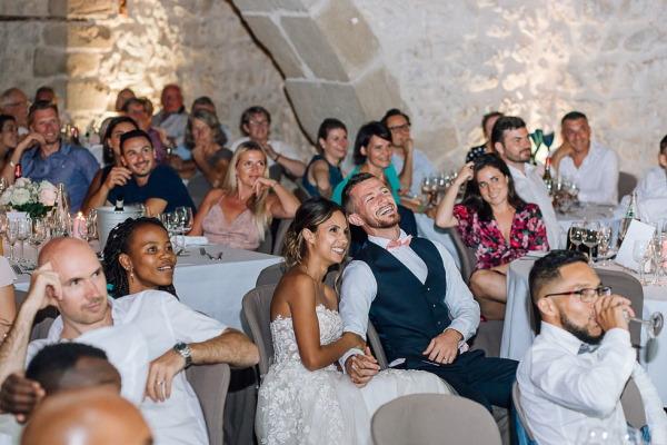 wedding party at chartreuse de pomier