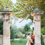 Wedding shoot of Couple outside Mas de Capelou in France