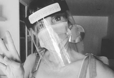 Bridal Beauty and Corona Virus Carey Hawkins in Mask