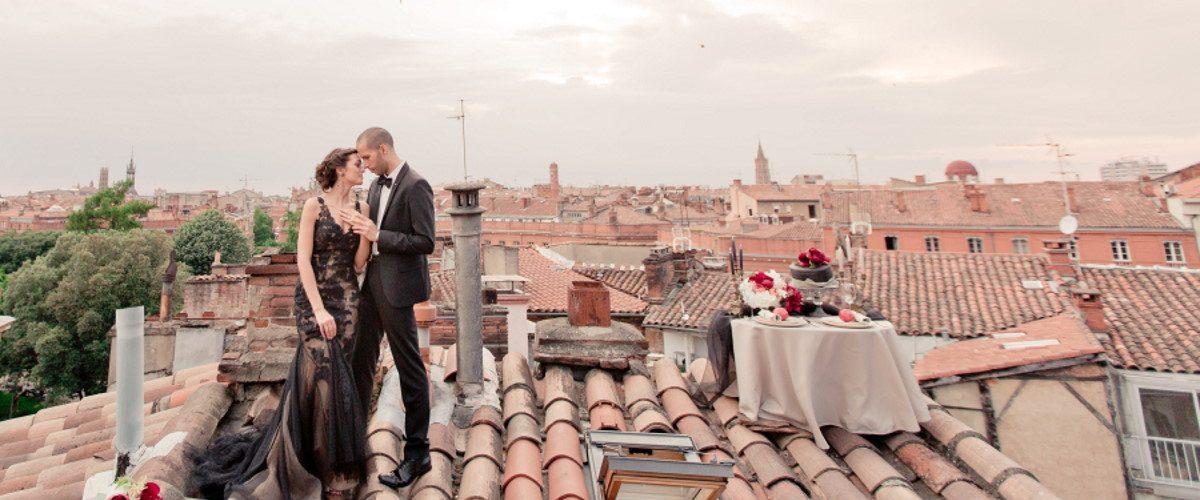 Eléna Fleutiaux Photography Couple on Rooftop
