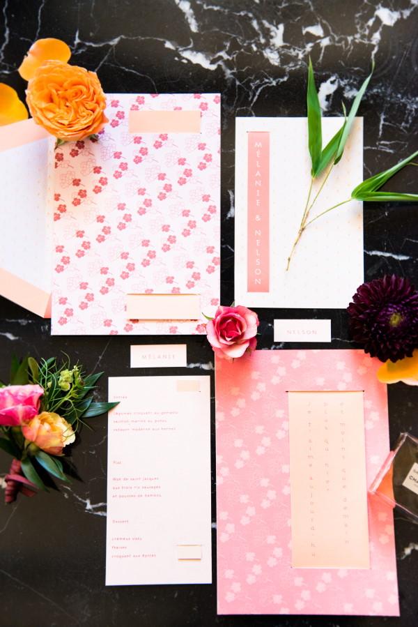 Japanese Inspired Wedding Invitations