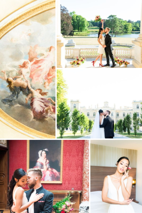 Intimate Exchange of Vows at Chateau Rothschild Snapshot