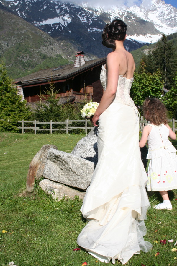 Bride mariée at Hotel les Grands Montets