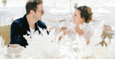 A Greek Wedding at Naos Beach in Cap-d'Ail France Bride and Groom