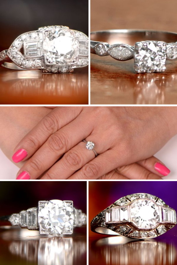 10 Must-Have Vintage Engagement Rings Collage