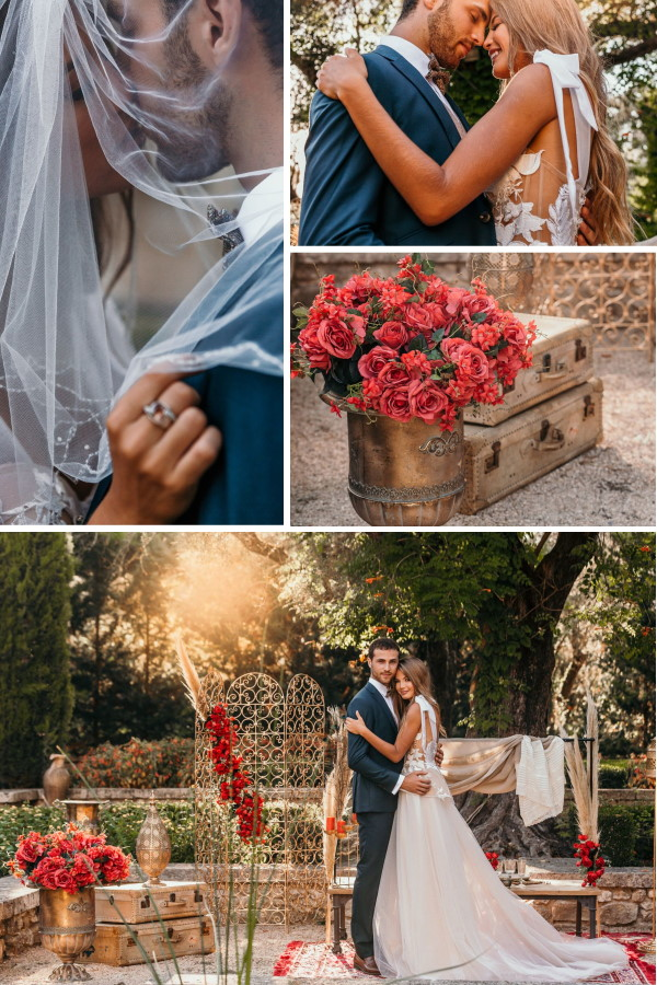 Asian Themed Wedding at Bastide du Roy Collage