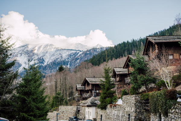Chalets in French Alps