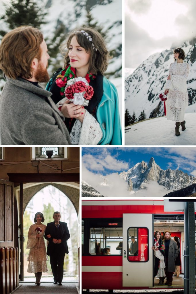 Zero Waste Wedding in the French Alps Collage