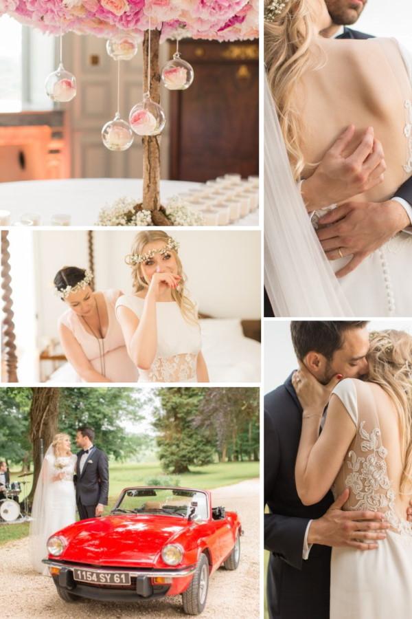 Elegant Wedding at Chateau d'Azy Collage