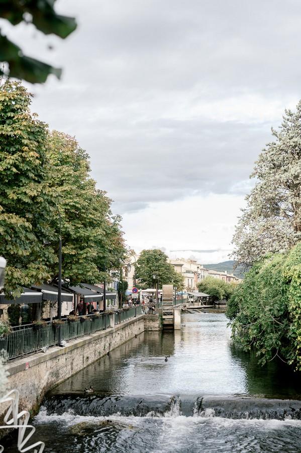 River in L'Isle-sur-la-Sorgue, France