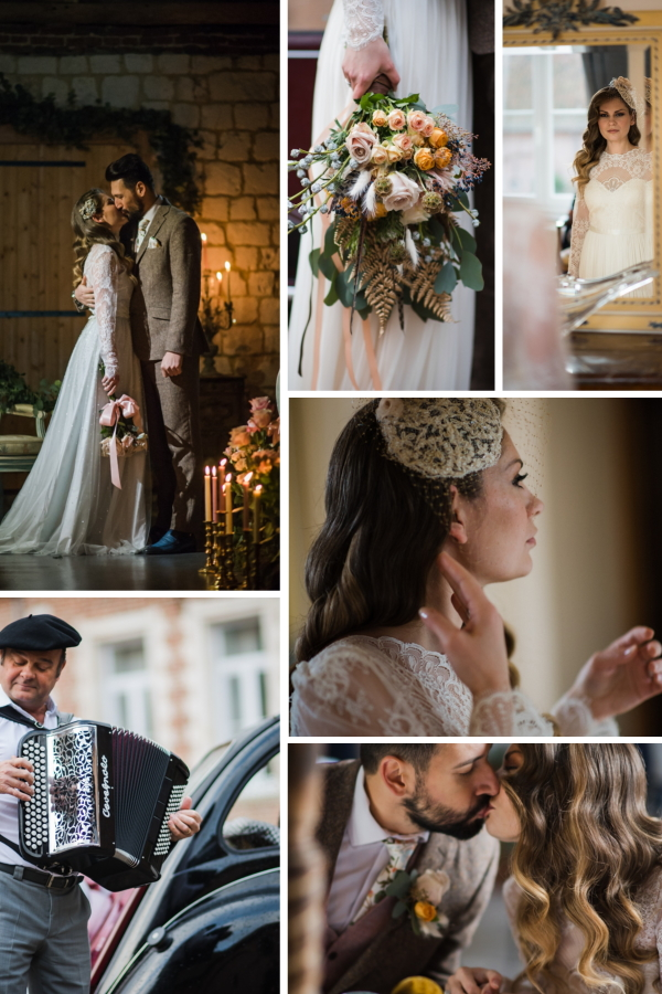 The Road to Giverny - A French Manor House Wedding Collage