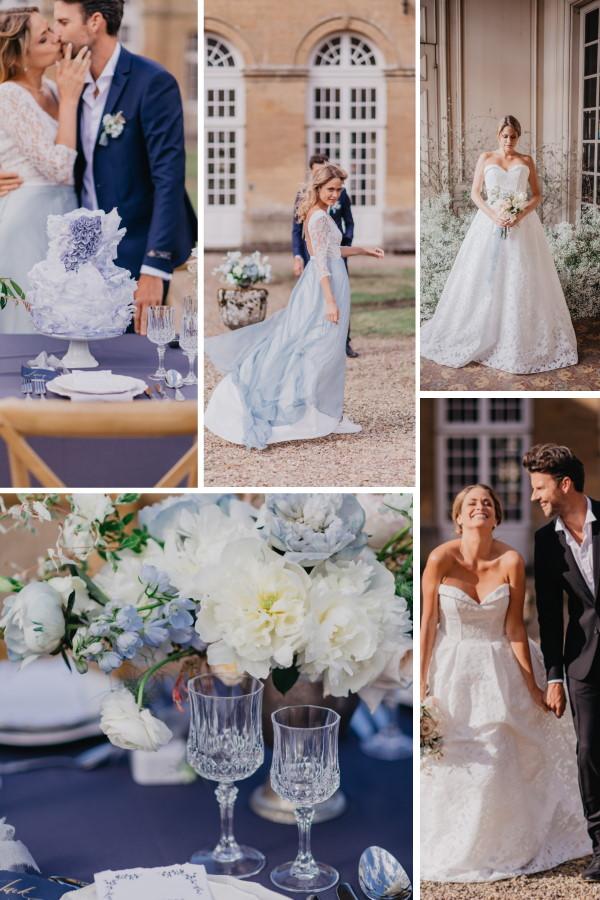Chateau de Cons-la-Grandville Wedding Shoot Collage