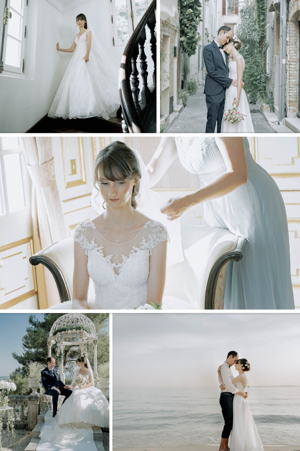 Collage of An Enchanting Wedding In A Medieval Town