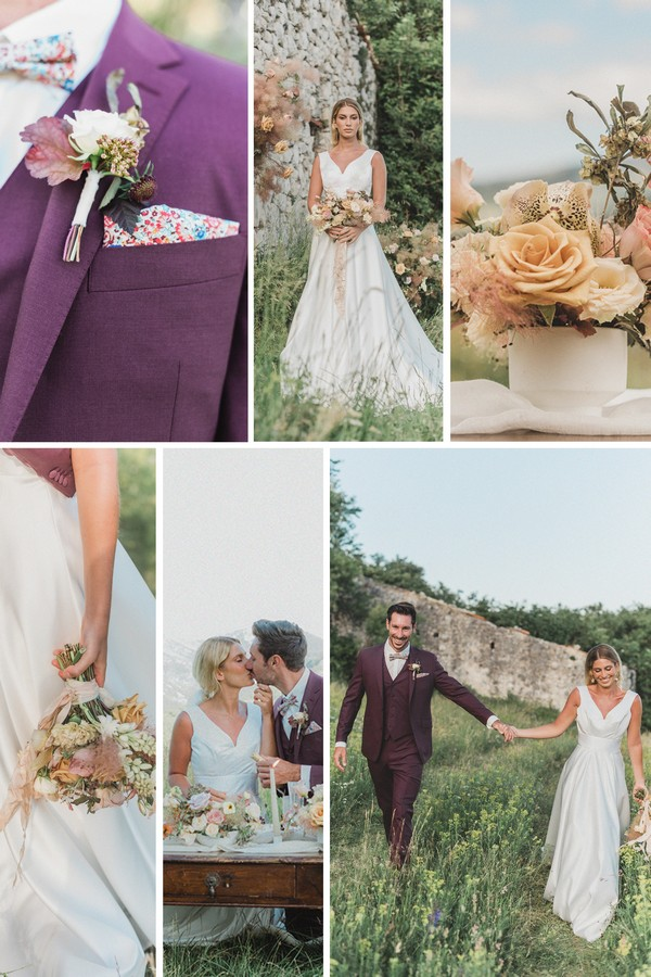Spring Picnic Wedding in the South of France Collage