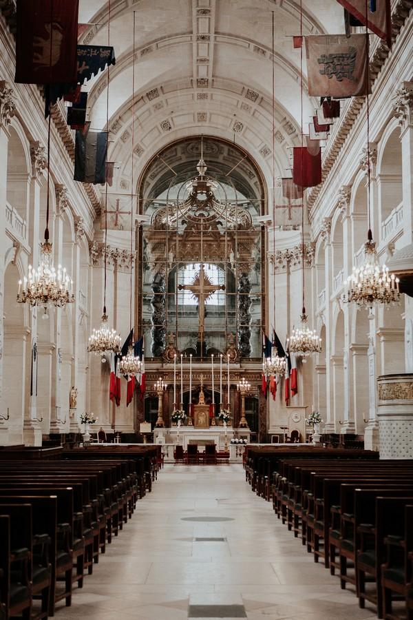 Interior of Cathedral of Saint Louis des Invalides in Paris