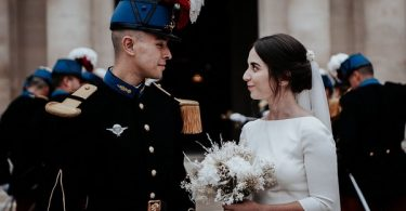 Retro Wedding at the Cathedral of Saint Louis des Invalides