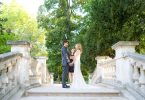 Romantic Ceremony in Parc Monceau Paris