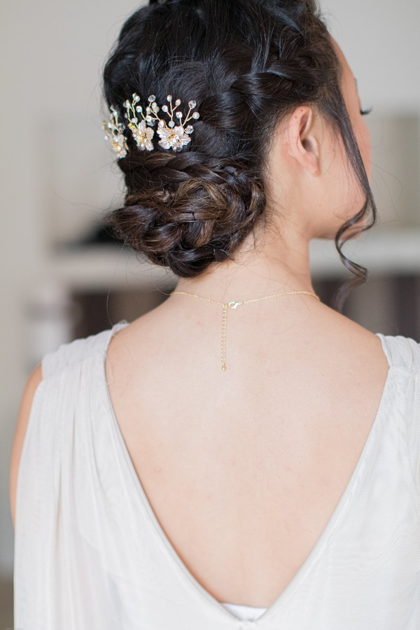 Bridesmaids hair for Fall Wedding at Domaine des Moures