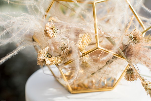 Fall Pampas grass cake topper for Wedding at Domaine des Moures