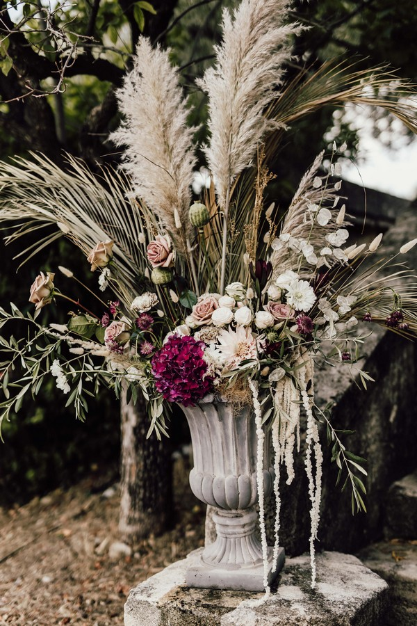 1920s floral arrangement Downton Abbey inspired