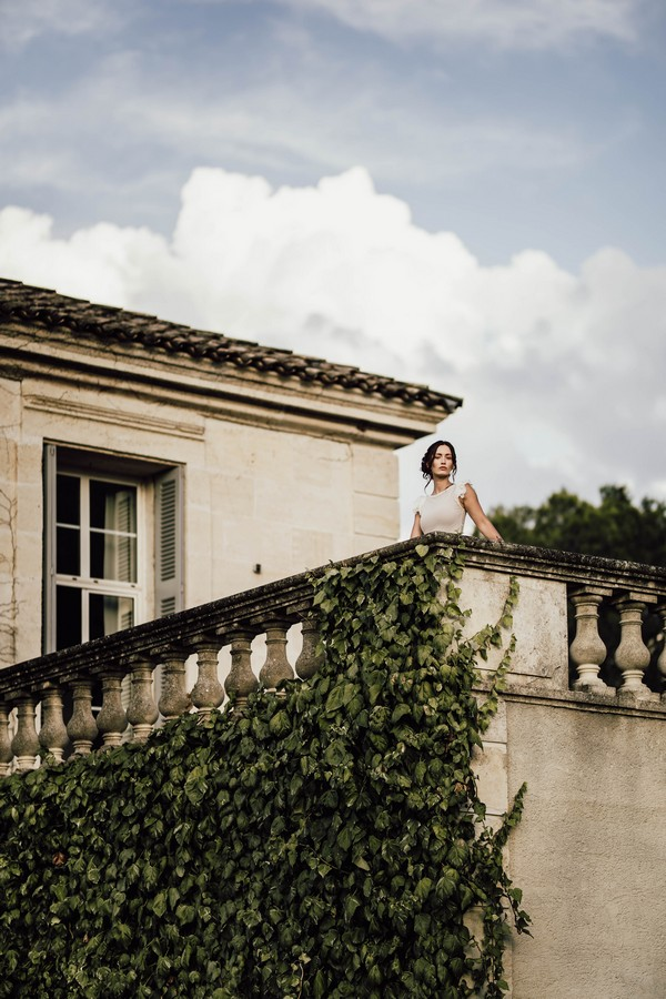 South of France Chateau balcony for Downton Abbey inspired wedding