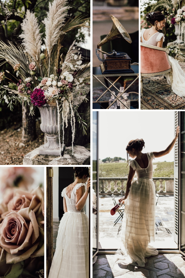 Downton Abbey Wedding Inspiration In The South of France Collage