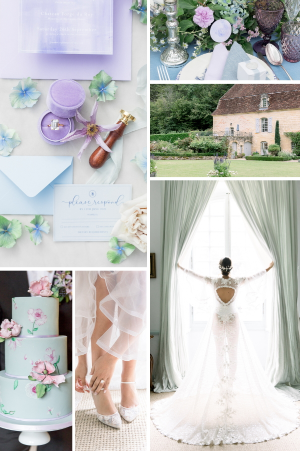 Woman With A Parasol - A Monet Inspired Garden Wedding Collage