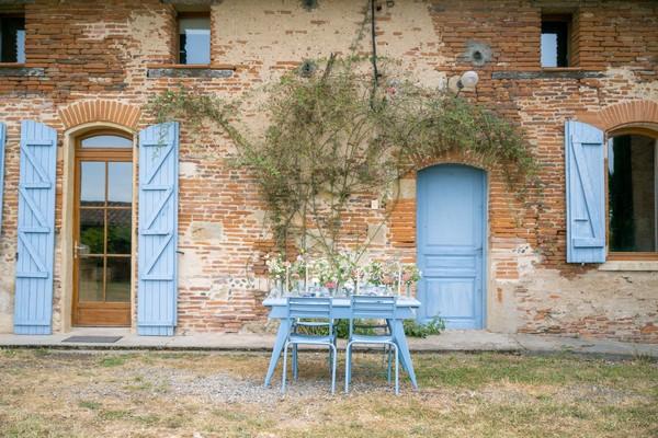 Blue Themed Wedding Table