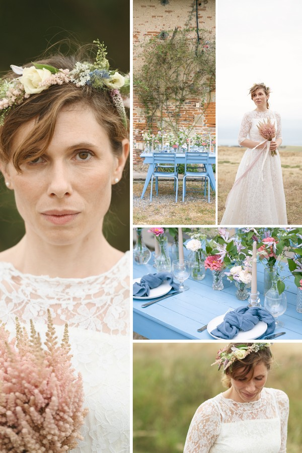 Home Micro Country Wedding in the South West of France Collage