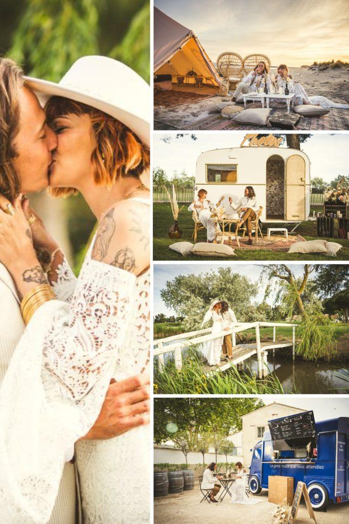 Boho Wedding in Camargue Collage