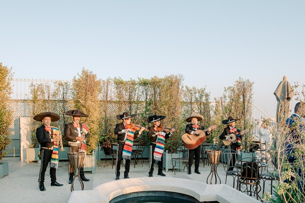 Mariachi Band playing at French-Mexican wedding in Paris
