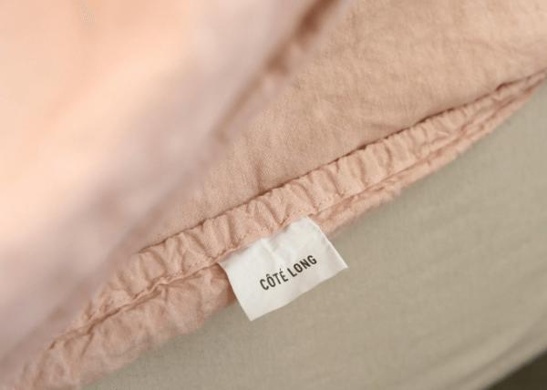 Labels Pink washed linen bedding set