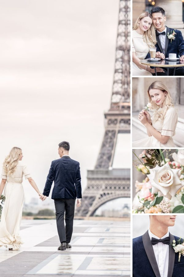 Intimate Wedding Breakfast In Light & Airy Parisian Apartment Collage